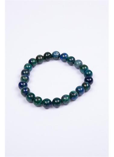 Hatemoğlu Casual Mavi-Boncuk Doğal Bileklik Yeşil